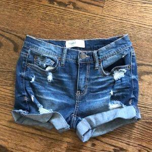 MUDD jean ripped shorts